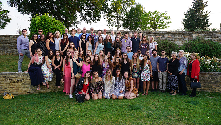 Students, faculty and interpreters at our final dinner, June 21, 2017.